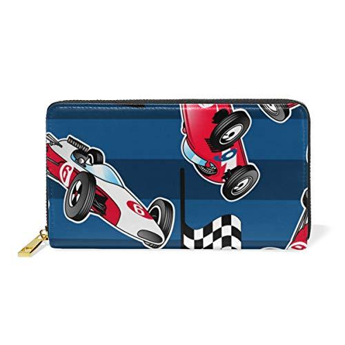 Zip Clutch Cars Handbags Around Purses Racing Womens Organizer Stripes With And Blue Wallet TIZORAX SPwYRw