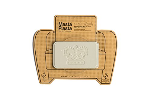 MastaPlasta Self-Adhesive Patch for Leather and Vinyl Repair, Crown, Ivory - 4 x 2.4 Inch - Multiple Colors Available