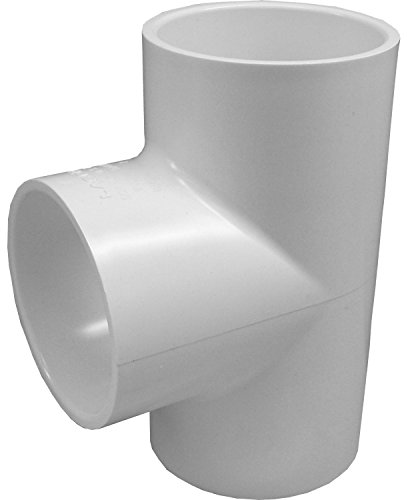 Genova Products 31405CP 1/2-Inch PVC Pipe Tee - 10 Pack