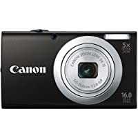 Canon PowerShot A2400 IS 16.0 MP Digital Camera with 5x Optical Image Stabilized Zoom 28mm Wide-Angle Lens with 720p Full HD Video Recording and 2.7-Inch Touch Panel LCD (Black)