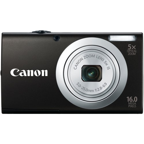 Canon PowerShot A2400 IS 16.0 MP Digital Camera with 5x Optical Image Stabilized Zoom 28mm Wide-Angle Lens with 720p Full HD Video Recording and 2.7-Inch Touch Panel LCD (Black) ()