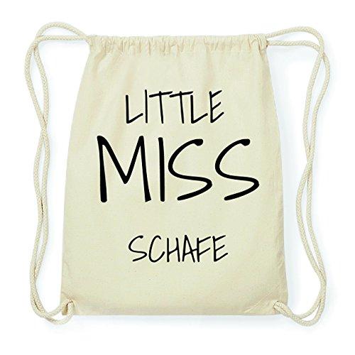 JOllify SCHAFE Hipster Turnbeutel Tasche Rucksack aus Baumwolle - Farbe: natur Design: Little Miss xobh6q