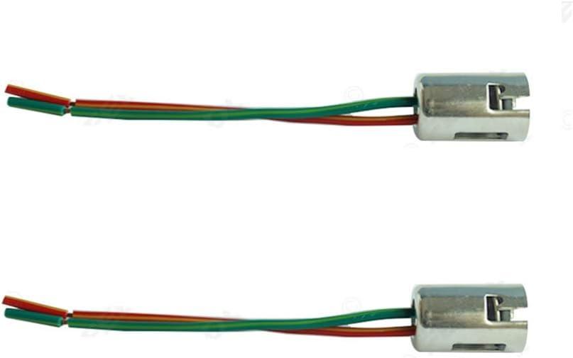 2x B15 B15D BA15D FASSUNG 1 FADEN LAMPENFASSUNG SOCKEL STECKER GL/ÜHBIRNE BOOT 12V 24V