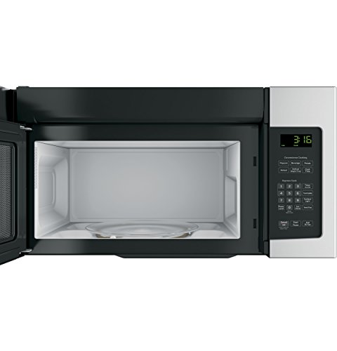 GE JNM3163RJSS 30'' Over-the-Range Microwave with 1.6 cu. ft. Capacity, in Stainless Steel by GE (Image #1)