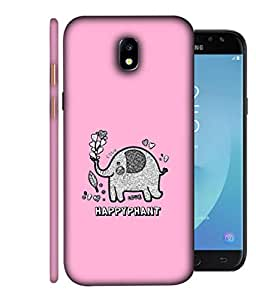 ColorKing Samsung J7 Pro 2017 Case Shell Cover - Happyphant Multi Color
