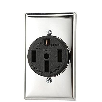 Nema 14 50r >> Dryer Receptacle Nema 14 50r 3 Pole 4 Wire 125 250v Ac 50 Amp Flush