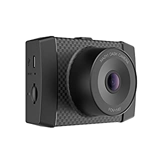"""YI 2.7K Ultra Dash Cam with 2.7"""" LCD Screen, 140° Wide Angle Lens, Mobile APP, Dual-Core Processor, Voice Control, MEMS 3-axis G-Sensor, and Night Vision (Micro SD Card and Car Charger Included)"""