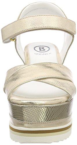 Sandales Gold platinum Femme Plateforme Bogner 4d Cannes ZwqEpUv