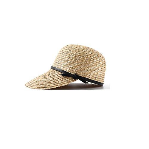 LVHC Sun Protection Uv Woven Baseball Cap, Straw Straw Hat Handmade Straw Hat Wild Holiday Beach Hat