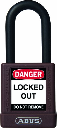 ABUS 59114 Non Conductive Lock Out Tag Out Anodized Aluminium Padlock - Brown