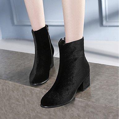 5 Hiver 4 Amande Décontracté Noir 5 cm amp;xuezi la Bottes black Similicuir Fermeture à GLL Habillé Automne Mode Gros 2 Femme Talon à Bottes Uw8xRafqR