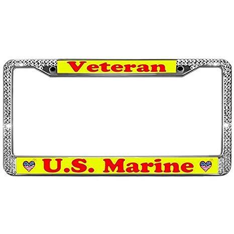 Amazon.com: GND License Plate Frames Veteran U.S. Marine License ...