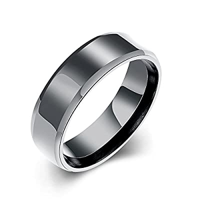 Hot Godyce Stainless Steel Rings for Men Women - Black/Rose Gold Size 7-10 Jewelry With Gift Box for sale