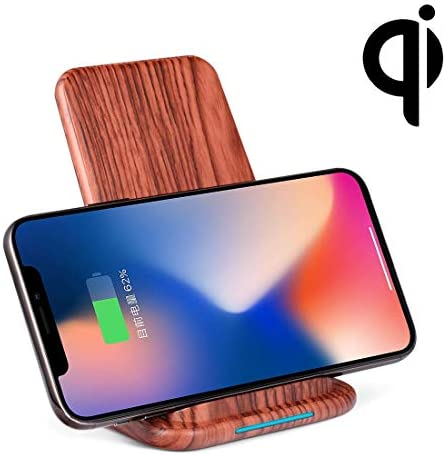 G-rf ワイヤレス充電器 G22-2 QI標準垂直ウッドワイヤレスギャラクシーS7 / S8用急速充電器(ダークブラウン) (Color : Dark Brown)