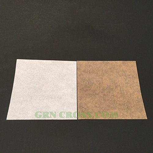 Silicone Coated Parchment Paper (1000 Silicone Coated Parchment Paper Squares >> Select Natural Brown or Bleach White (5