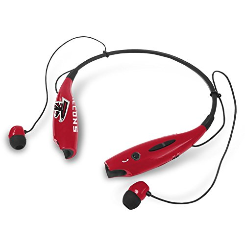 Prime Brands Group NFL Atlanta Falcons Bluetooth Headphones Wireless Neckband Headset Stereo Earbuds with Microphone (Atlanta Falcons)