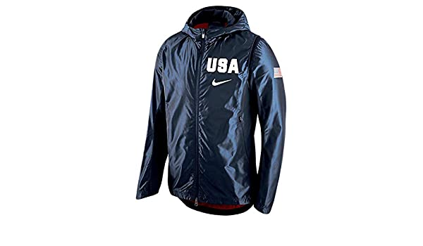 new product 8ddb0 1be81 Amazon.com  Nike USA Basketball Hooded Hyper Elite Jacket - Men s NAVY (S)   Sports   Outdoors