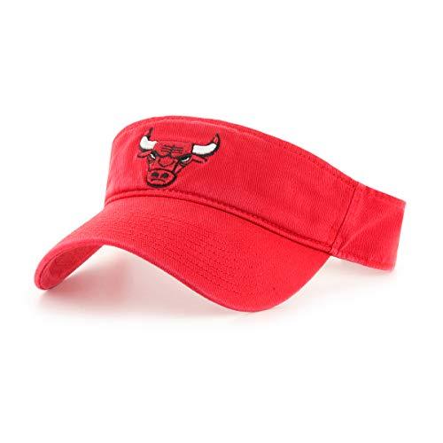 - OTS NBA Chicago Bulls Male Visor, Red, One Size