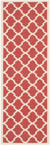 (Safavieh Courtyard Collection CY6903-248 Red and Bone Indoor/ Outdoor Runner (2'3