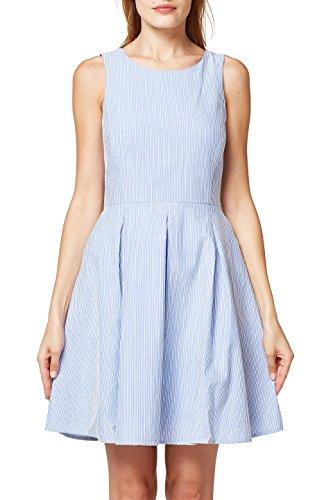 Donna Esprit Vestito grey Blu 420 Blue qv6wZCOx5v