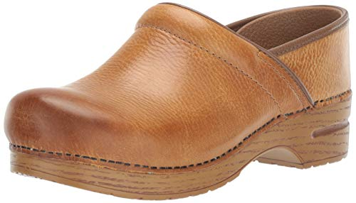 Dansko Women's Wide Pro Clog, Honey Distressed, 38 W EU (7.5-8 US)