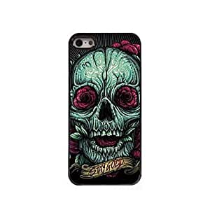 QHY Rose Skull Pattern Aluminum Hard Case for iPhone 5/5S