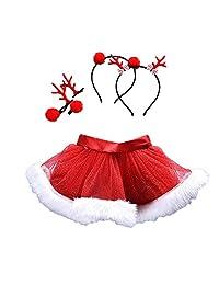 Sinzelimin Christmas Little Red Dress Girl Tulle Skirt Tutu Skirt Ballet Skirt