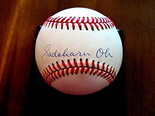 Sadaharu Oh Japan's Hof Hr Kings Auto Signed Vintage Baseball Mears Loa - JSA Certified - Autographed Baseballs