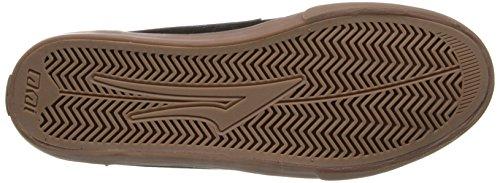 Lakai Griffin - Zapatillas de Skateboarding de cuero hombre negro - Noir (Black/Gum Suede)