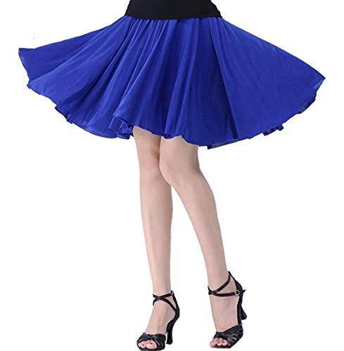 Home Royal Girls A Gonna Con Vita Size color Balza S Alta Dress Corta Uomo Blue Da Bassa Pieghe Bqf6Fq5xw