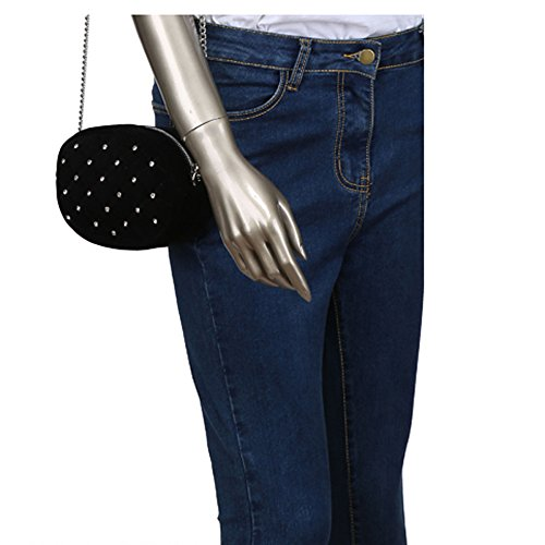 Même Décoration Avec Y Étoile Bag D Femmes Bag De 2018 Le Avec XNRHH Motif Bourse Pochette Velours Métallique Ondulé Paragraphe Mobile Compris Mini Poches Portefeuille 67qnaX