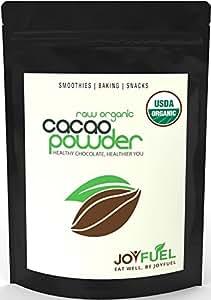 Premium Organic Raw Cacao/Cocoa Powder, Rich Dark Chocolate Taste - 1lb/16oz bag