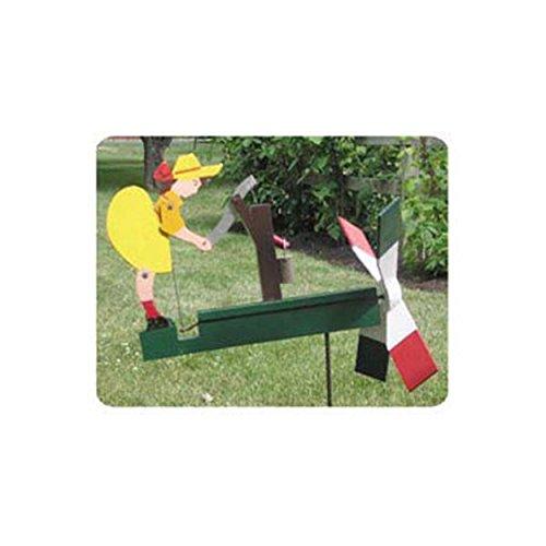 Girl Whirligig - Woodworking Project Paper Plan to Build Waterpump Girl Whirligig