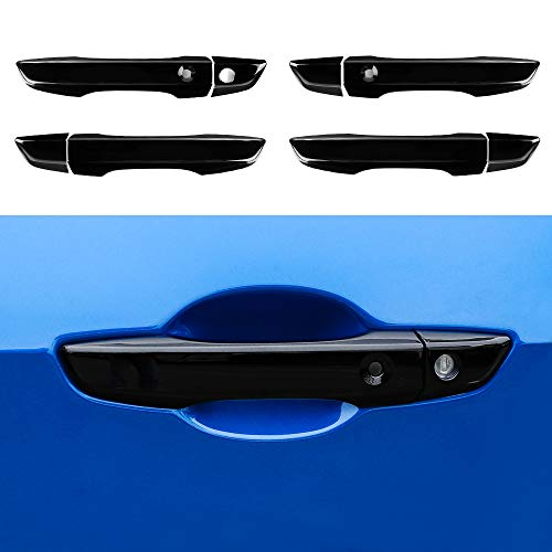 (Thenice for 10th gen Civic ABS Door Handle Cover Exterior Decoration Super Cool Special Design Trims for Honda Civic 2016 2017 2018 2019 -Black)