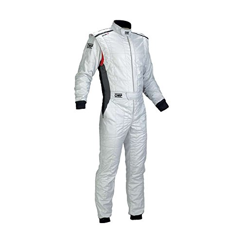 OMP IA0183708352 One S Racing Suit, Silver, Size 52