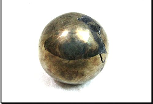 Jet Natural Pyrite 45-50 mm Ball Sphere Gemstone A+ Hand Carved Crystal Altar Healing Devotional Focus Spiritual Chakra Cleansing - And Spheres Crystal Stone