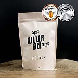 Killer Bee Coffee - Big Buzz Blend 1kg. Award Winning Specialty Coffee Beans for Espresso or Filter Pour Over. Whole Beans or Ground to Your Preference.