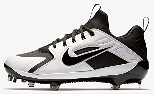 - Nike Men's Alpha Huarache Elite Baseball Cleats(Black/Black, 10 D(M) US)