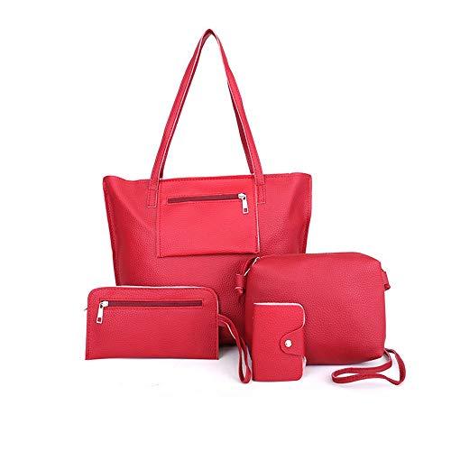 clair bandoulière Wangkk à grand modèle rouge gris pour à sac bandoulière femme Lychee Sac TAnq7Tp