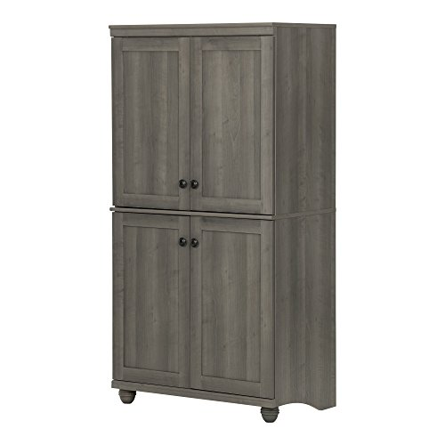South Shore Hopedale 4-Door Storage Armoire, Gray Maple by South Shore