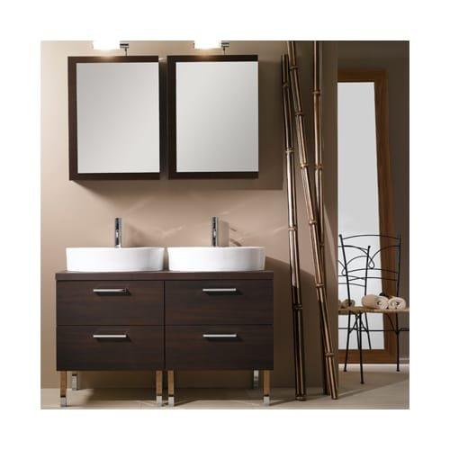 Iotti Iotti A19-Wenge-637509928414 Aurora Collection Bathroom Vanity, Wenge - Iotti Aurora Collection