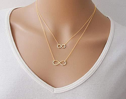 - Hebel Women Pendant Chain Infinity Choker Chunky Jewelry Charm Statement Bib Necklace | Model NCKLCS - 32092 |