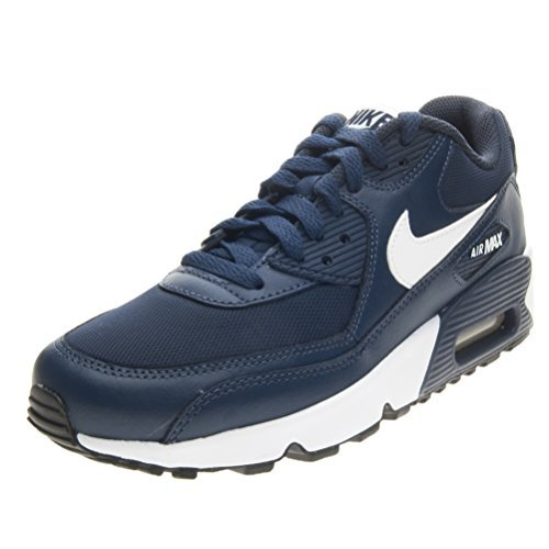 Nike Air Max 90 Mesh (GS) Trainers 833418 Sneakers Shoes (3.5 M US BIG KID, midnight navy white black 400) by NIKE