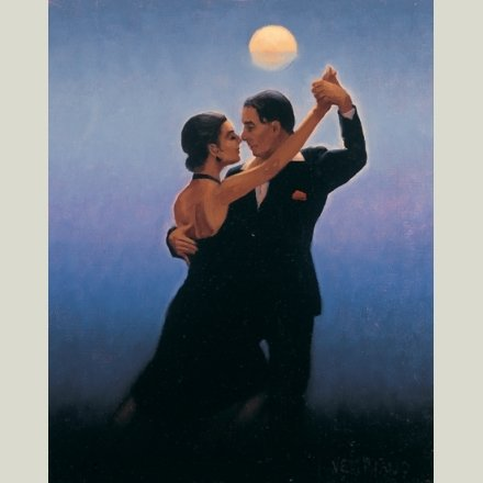 """ Tango Dancers "" Jack Vettriano Open Greeting Card - HPC019 HEARTBREAK PUBLISHING"