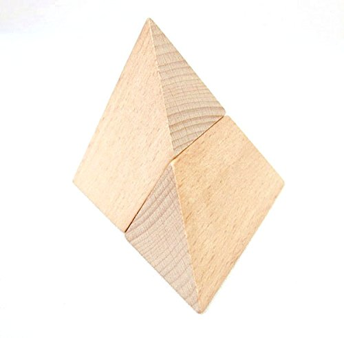 (StarMall Wooden Puzzling Pyramid Kongming Lock Brain Teaser Puzzles for Kid)