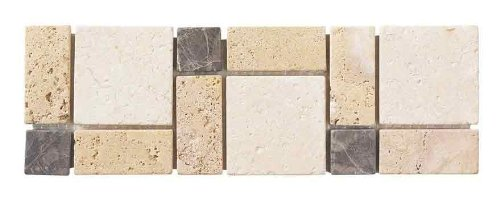 Medallion Ceiling Court (ICJ 99122 4-Inch by 12-Inch Brown/Beige Travertine/Marble Wall Accent)