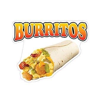 Burritos Concession Restaurant Food Truck Die-Cut Vinyl Sticker