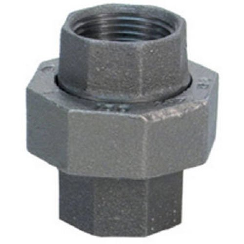"Anvil 8700163051, Malleable Iron Pipe Fitting, Union, 1"" NPT Female, Black Finish"