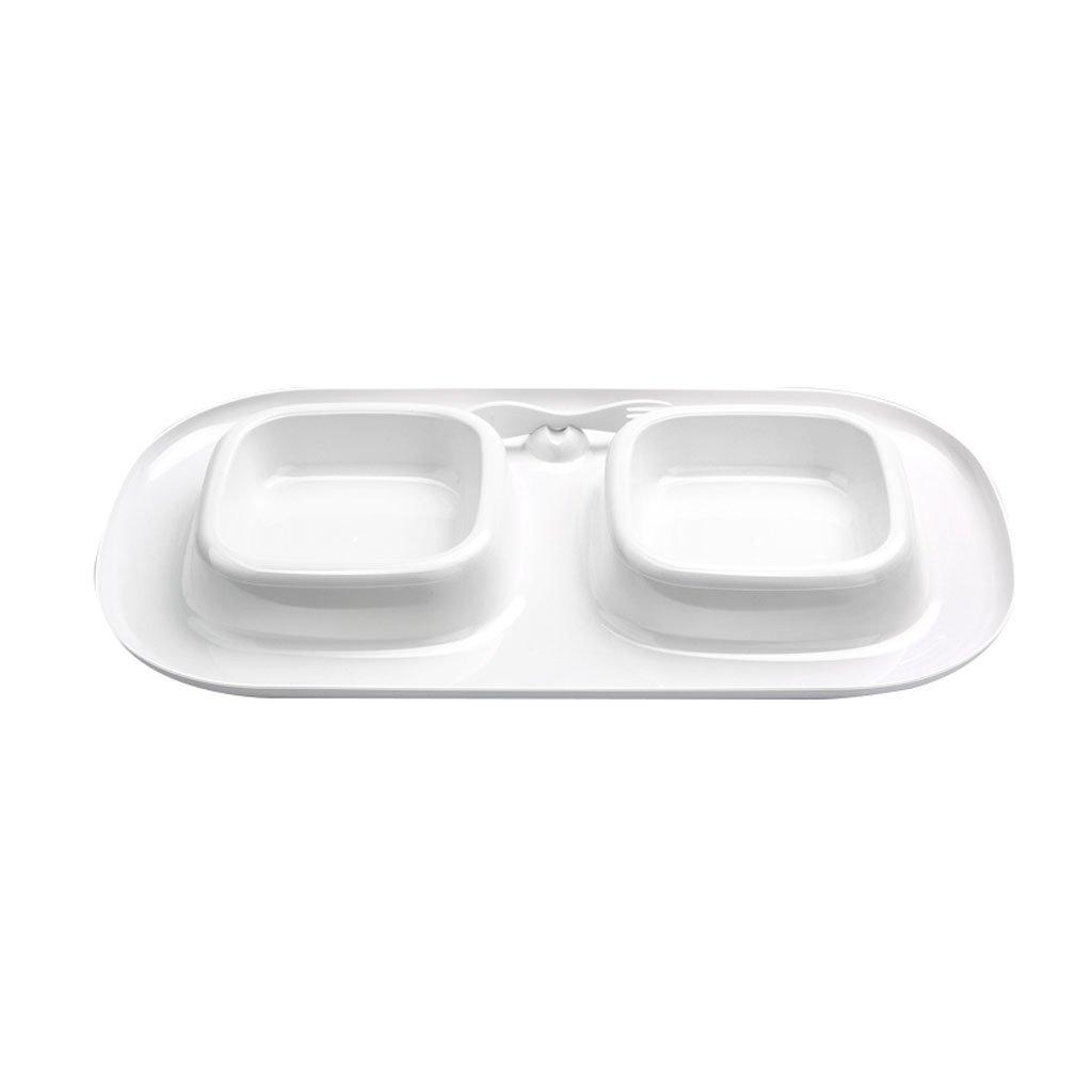39224cm DDSS Pet Feeder Pet Bowl Cat Dog Food Bowl Water Bowl Crimping Splashproof Leak Proof Cat Supplies  -  (Size   39  22  4cm)