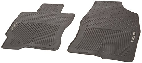 Genuine Toyota Accessories PT908-4700W-02 Front All-Weather Floor Mat - (Black), Set of 2 ()